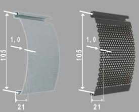 Металлические рольставни- профили